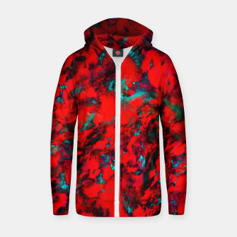 Thumbnail image of Fluttering red Zip up hoodie, Live Heroes