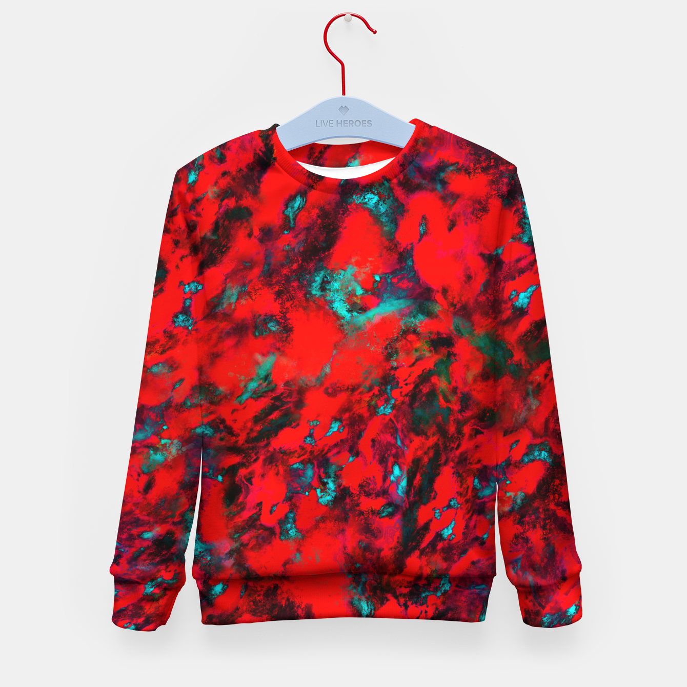 Image of Fluttering red Kid's sweater - Live Heroes