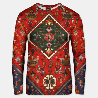 Thumbnail image of Red & Blue Geometric Moroccan Antique Artwork  Unisex sweater, Live Heroes