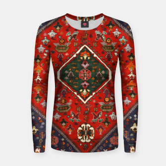 Thumbnail image of Red & Blue Geometric Moroccan Antique Artwork  Women sweater, Live Heroes