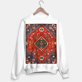 Thumbnail image of Red & Blue Geometric Moroccan Antique Artwork  Sweater regular, Live Heroes