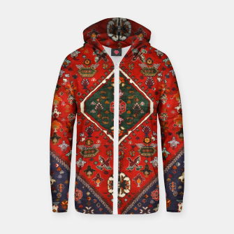 Thumbnail image of Red & Blue Geometric Moroccan Antique Artwork  Zip up hoodie, Live Heroes