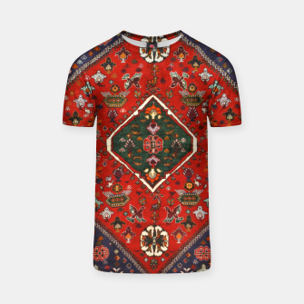 Thumbnail image of Red & Blue Geometric Moroccan Antique Artwork  T-shirt, Live Heroes