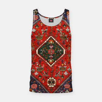 Thumbnail image of Red & Blue Geometric Moroccan Antique Artwork  Tank Top, Live Heroes