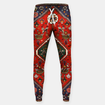 Thumbnail image of Red & Blue Geometric Moroccan Antique Artwork  Sweatpants, Live Heroes