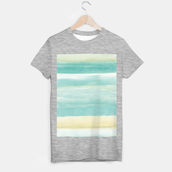 Imagen en miniatura de Watercolor Abstract Minimalism #1 #minimal #painting #decor #art  T-Shirt regulär, Live Heroes