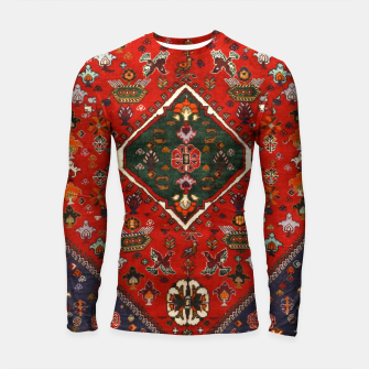 Thumbnail image of Red & Blue Geometric Moroccan Antique Artwork  Longsleeve rashguard , Live Heroes