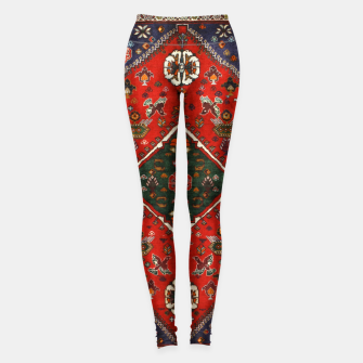 Thumbnail image of Red & Blue Geometric Moroccan Antique Artwork  Leggings, Live Heroes