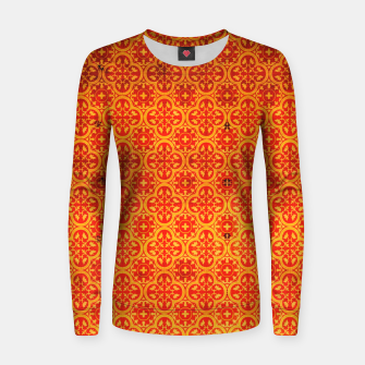 Thumbnail image of Oriental Orange Traditional Moroccan Style  Women sweater, Live Heroes