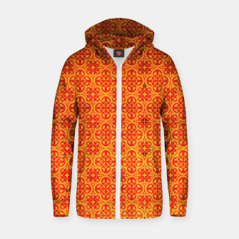 Thumbnail image of Oriental Orange Traditional Moroccan Style  Zip up hoodie, Live Heroes