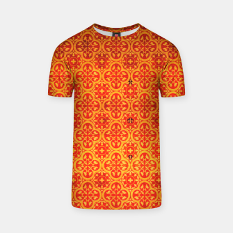 Thumbnail image of Oriental Orange Traditional Moroccan Style  T-shirt, Live Heroes