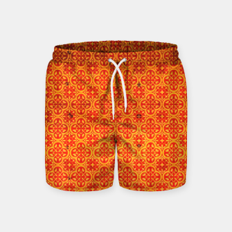Miniaturka Oriental Orange Traditional Moroccan Style  Swim Shorts, Live Heroes