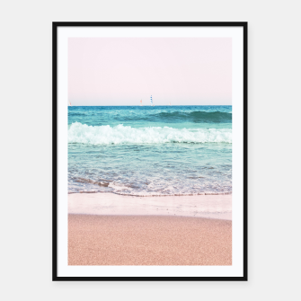 Pastel Ocean Dream #1 #wall #decor #art Plakat mit rahmen obraz miniatury