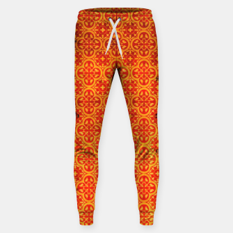 Thumbnail image of Oriental Orange Traditional Moroccan Style  Sweatpants, Live Heroes