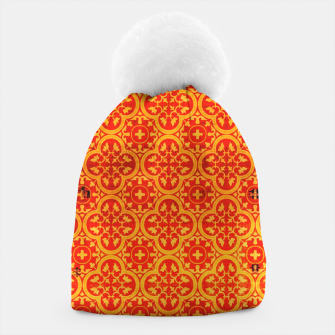 Thumbnail image of Oriental Orange Traditional Moroccan Style  Beanie, Live Heroes
