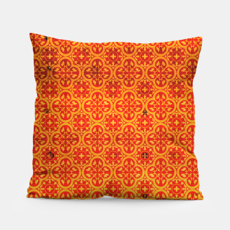 Thumbnail image of Oriental Orange Traditional Moroccan Style  Pillow, Live Heroes