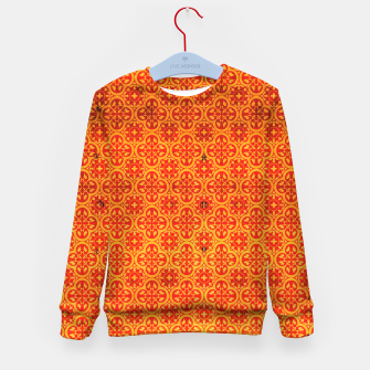 Thumbnail image of Oriental Orange Traditional Moroccan Style  Kid's sweater, Live Heroes