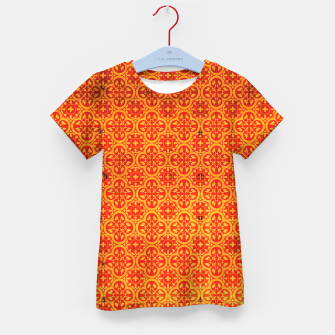 Thumbnail image of Oriental Orange Traditional Moroccan Style  Kid's t-shirt, Live Heroes