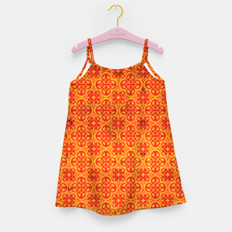 Thumbnail image of Oriental Orange Traditional Moroccan Style  Girl's dress, Live Heroes
