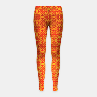 Miniaturka Oriental Orange Traditional Moroccan Style  Girl's leggings, Live Heroes