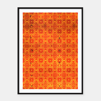 Thumbnail image of Oriental Orange Traditional Moroccan Style  Framed poster, Live Heroes