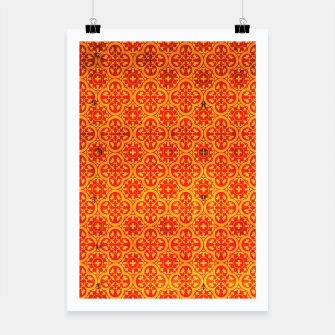 Thumbnail image of Oriental Orange Traditional Moroccan Style  Poster, Live Heroes