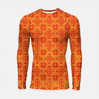 Thumbnail image of Oriental Orange Traditional Moroccan Style  Longsleeve rashguard , Live Heroes