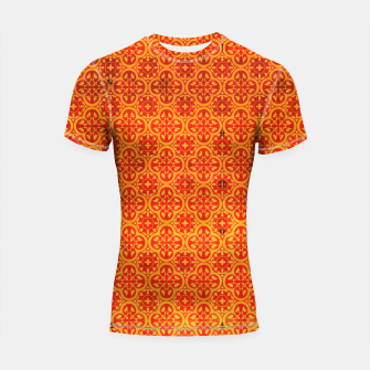 Thumbnail image of Oriental Orange Traditional Moroccan Style  Shortsleeve rashguard, Live Heroes