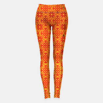 Miniaturka Oriental Orange Traditional Moroccan Style  Leggings, Live Heroes