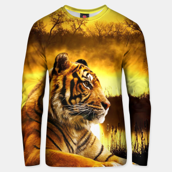 Miniatur Tiger and Sunset Unisex sweater, Live Heroes