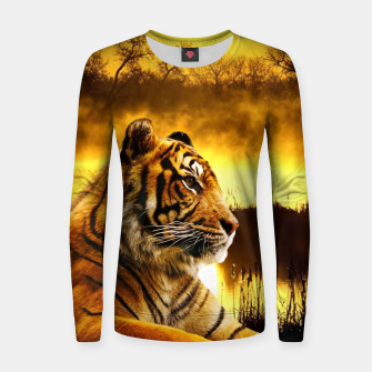 Thumbnail image of Tiger and Sunset Women sweater, Live Heroes