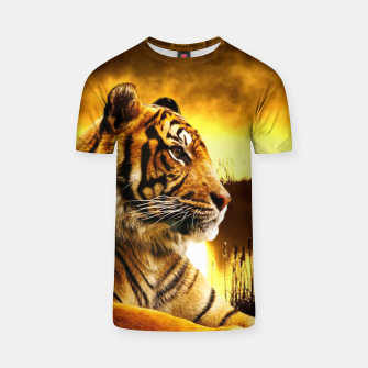 Miniatur Tiger and Sunset T-shirt, Live Heroes