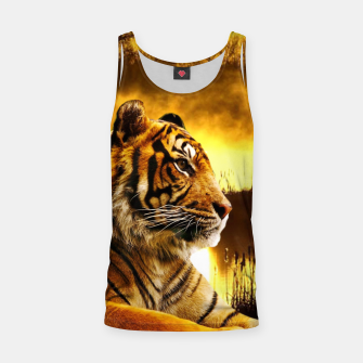 Miniatur Tiger and Sunset Tank Top, Live Heroes