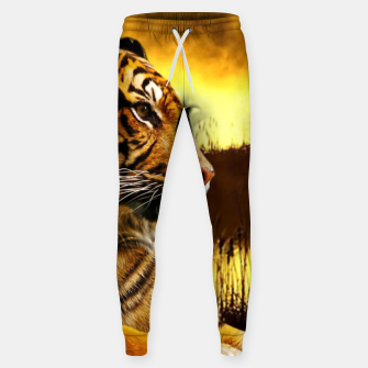 Thumbnail image of Tiger and Sunset Sweatpants, Live Heroes