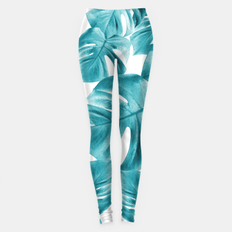 Miniature de image de Monstera Leaves Summer Vibes Pattern #2 #tropical #decor #art  Leggings, Live Heroes