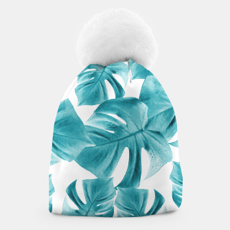 Thumbnail image of Monstera Leaves Summer Vibes Pattern #2 #tropical #decor #art  Mütze, Live Heroes