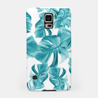 Thumbnail image of Monstera Leaves Summer Vibes Pattern #2 #tropical #decor #art  Handyhülle für Samsung, Live Heroes