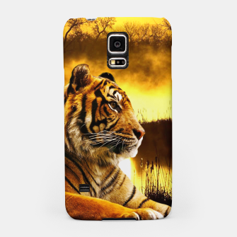 Miniatur Tiger and Sunset Samsung Case, Live Heroes
