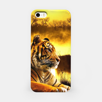 Miniatur Tiger and Sunset iPhone Case, Live Heroes