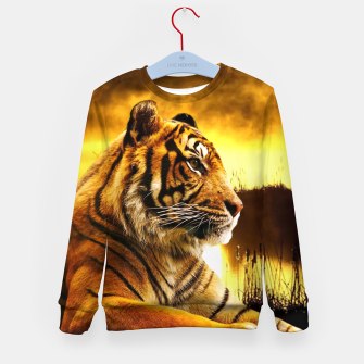 Thumbnail image of Tiger and Sunset Kid's sweater, Live Heroes