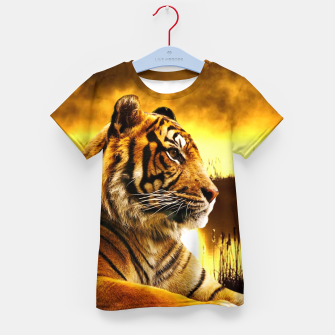 Thumbnail image of Tiger and Sunset Kid's t-shirt, Live Heroes