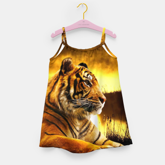 Thumbnail image of Tiger and Sunset Girl's dress, Live Heroes