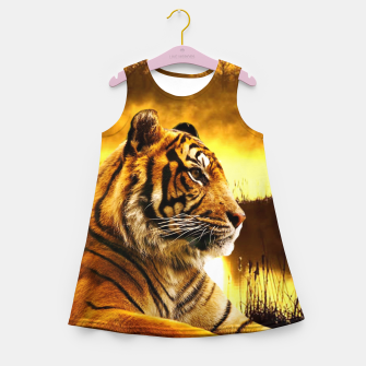 Thumbnail image of Tiger and Sunset Girl's summer dress, Live Heroes