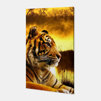 Thumbnail image of Tiger and Sunset Canvas, Live Heroes