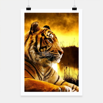 Thumbnail image of Tiger and Sunset Poster, Live Heroes