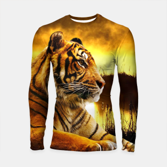 Thumbnail image of Tiger and Sunset Longsleeve rashguard , Live Heroes