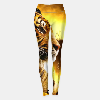 Thumbnail image of Tiger and Sunset Leggings, Live Heroes