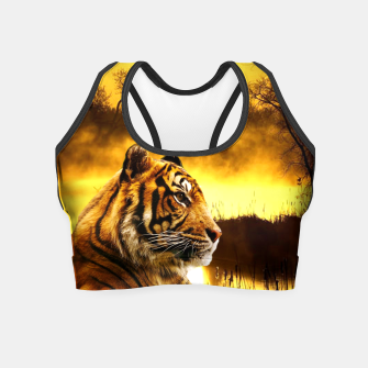 Thumbnail image of Tiger and Sunset Crop Top, Live Heroes