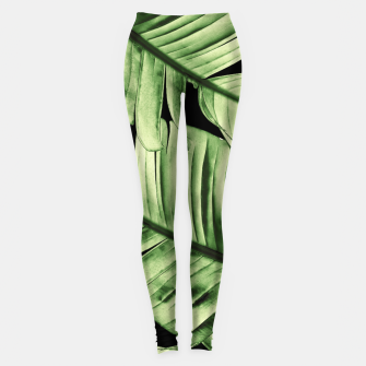 Miniature de image de Tropical Banana Night Leaves Dream #1 #tropical #decor #art Leggings, Live Heroes