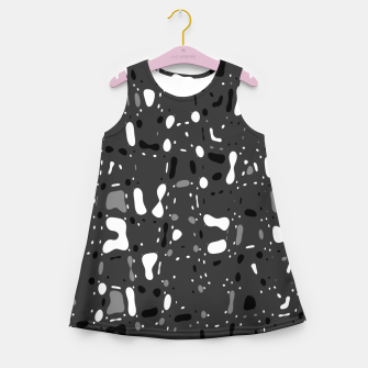 Thumbnail image of Black and white, day and night, dark and light, life contrasts, simple abstract texture design Girl's summer dress, Live Heroes